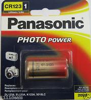 1 Panasonic Camera Battery Cr123A retail packed