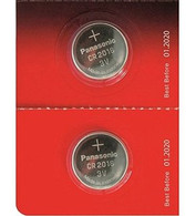 One (1) Twin Pack (2 Batteries) Panasonic Cr2016 Lithium Coin Cell Battery 3V.