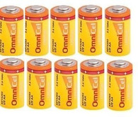 (10) 3.6 Volt 1/2 AA Omni Lithium Wireless Adt Alarm Batteries