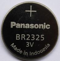 Lot of 10 Panasonic BR2325 (CR2325) 3 Volt Lithium Coin Size Battery, on Tear Strip - Bulk Pack