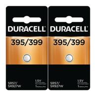 2 Button cell SR57, SR926 Silver oxide Duracell 395/399 batteries