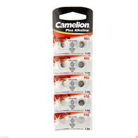 Camelion AG5 Button Cell Batteries, Alkaline Button Battery, 1.5V 10pcs Per Pack