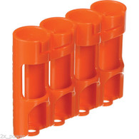 Storacell Powerpax AA Battery Caddy, Orange, 4-Pack