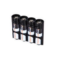 Storacell Powerpax AA Battery Caddy, Black, 4-Pack