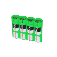 Storacell Powerpax AA Battery Caddy, Glow-in-The-Dark Moonshine, 4-Pack