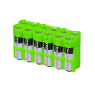 Storacell Powerpax AA Battery Caddy, Glow-in-The-Dark Moonshine, 12-Pack