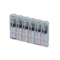 Storacell Powerpax AAA Battery Caddy, Clear, 6-Pack