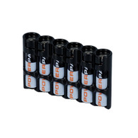 "Storacell by Powerpax Slim Line ""AAA"" Battery Caddy, Black - Holds 6 ""AAA"" Batteries"