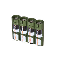 "Storacell by Powerpax Slim Line ""AAA"" Battery Caddy, Military Green - Holds 6 ""AAA"" Batteries"