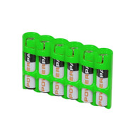 Storacell Powerpax AAA Battery Caddy, Glow-In-The-Dark Moonshine, 6-Pack