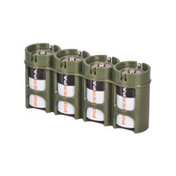 Storacell Powerpax C Battery Caddy, Military Green, 4-Pack