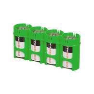 Storacell Powerpax C Battery Caddy, Glow-In-the-Dark Moonshine, 4-Pack