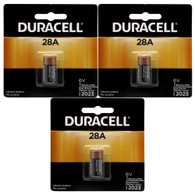 Duracell 6V Alkaline Medical Battery - A544 4LR44 PX28A 3 pk.