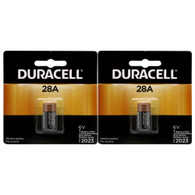 Duracell PX28A, 4LR44 6 Volt Alkaline Battery, PX28ABPK 2 pk.