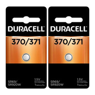 2 Duracell 370 371 Siver Oxide Batteries