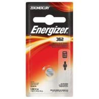Energizer 362 Silver Oxide Zero Mercury 1.55V Watch/Electronic Battery