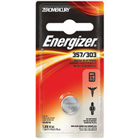 Energizer 357/303 Silver Oxide Zero Mercury 1.55V Watch/Electronic Battery