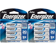 Energizer L91BP-8 Ultimate Lithium AA Battery (8-Pack)