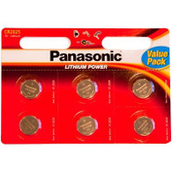 Panasonic DL2025 3V Coin Lithium Battery, Carded X 6