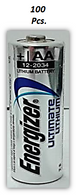 Energizer Ultimate Lithium AA Batteries, World's Longest Lasting Battery for High-Tech Devices, 100 Count