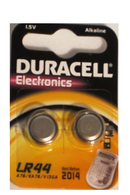 Duracell LR44 Duralock 1.5V Button Cell Battery (2 Pack)