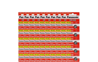 50 Pansonic Batteries CR1220 Battery Lithium, 3V, Coin Cell