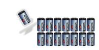 (15) 3.6V ADT Tekcell SB-AA02 14250 1/2AA LITHIUM BATTERIES