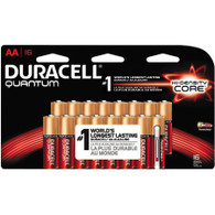 Duracell Quantum AA 1.5V Alkaline Button Top Batteries (16)