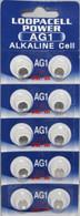 400 Pack LOOPACELL AG1 Alkaline Watch Batteries - SR621, SR621SW, 364, 164
