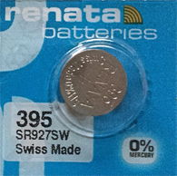 25 Renata 395 Silver Oxide Watch Batteries