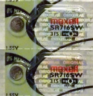 2 Maxell 315 Watch Battery SR716SW