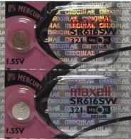 2 Pcs 321 Battery SR616SW Maxell Batteries