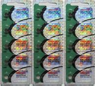 319 Maxell Watch Batteries SR527SW 15 Pcs