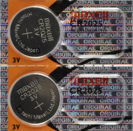 2 Pieces Maxell CR2025 2025 Lithium Coin Battery Japan Made