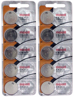 10pc Maxell 3V Lithium Coin Cell Battery CR2025 Replaces DL2025