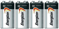 Energizer E522 Max 9V Alkaline battery Exp. 12/20 or later Made in USA - 4 Count