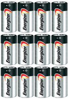 ENERGIZER E95 Max ALKALINE D BATTERY Made in USA Exp. 12-2026 or later - 12 Count