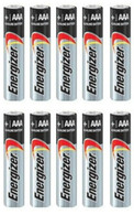 Pack of 10 Energizer E92 AAA Alkaline Battery - Bulk Pack - with FREE Clear Battery Storage Holder Case