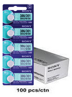 Sony 301 Silver Oxide Watch Battery 100pk