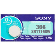 one (1) Sony 366 Silver Oxide Batteries (SR1116SW )