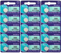 366 Sony Watch Batteries SR1116SW 15 Batteries