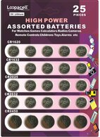 Loopacell High Power Button Cell 3V Lithium Assorted Batteries CR2032, CR2025, CR2450, CR1620, CR1632