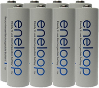 NEW Panasonic Eneloop 4th generation 8 Pack AA NiMH Pre-Charged Rechargeable Bat...