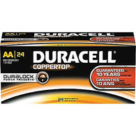 Duracell Coppertop Alkaline AA replaces: 15A, 15D, 15LF, 2AA, 815, AA, AL-AA, AM3, Double A, E91, EN91, FR6, KAA, L91, LR6, LR6XWA, MN1500, MX1500, PC1500, R6, UM3 , 24 Count