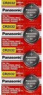 Pack Of 4 CR2032 Panasonic Lithium 3v Watch/Electronic Batteries