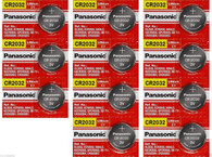 11 Pack CR2032 Long-life Lithium Button Cell Batteries By Panasonic