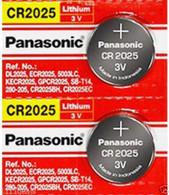 Panasonic Lithium 3v Watch/Electronic CR2025 2 Batteries
