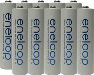 1000  Pack Panasonic Eneloop AAA 4th generation 800mAh, Min. 750mAh NiMH Pre-Charged Rechargeable Batteries