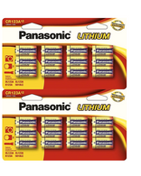 24 Panasonic CR123A L123A SF123A 123A 3V Lithium Batteries Original Retail Pack