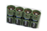 Duracell DL123A CR123A 3V Ultra Lithium X 4 Batteries (EXP. 2024) + Storacell by Powerpax SlimLine Military Green CR123, 123, CR123A Battery Case - Combo Deal!! Batteries and holder
